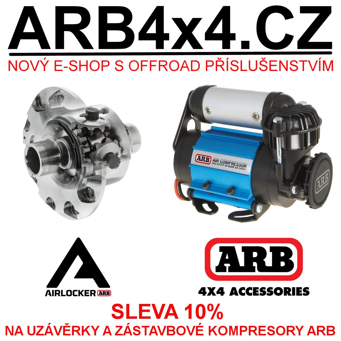 ARB uzávěrky a zástavbové kompresory se slevou 10%